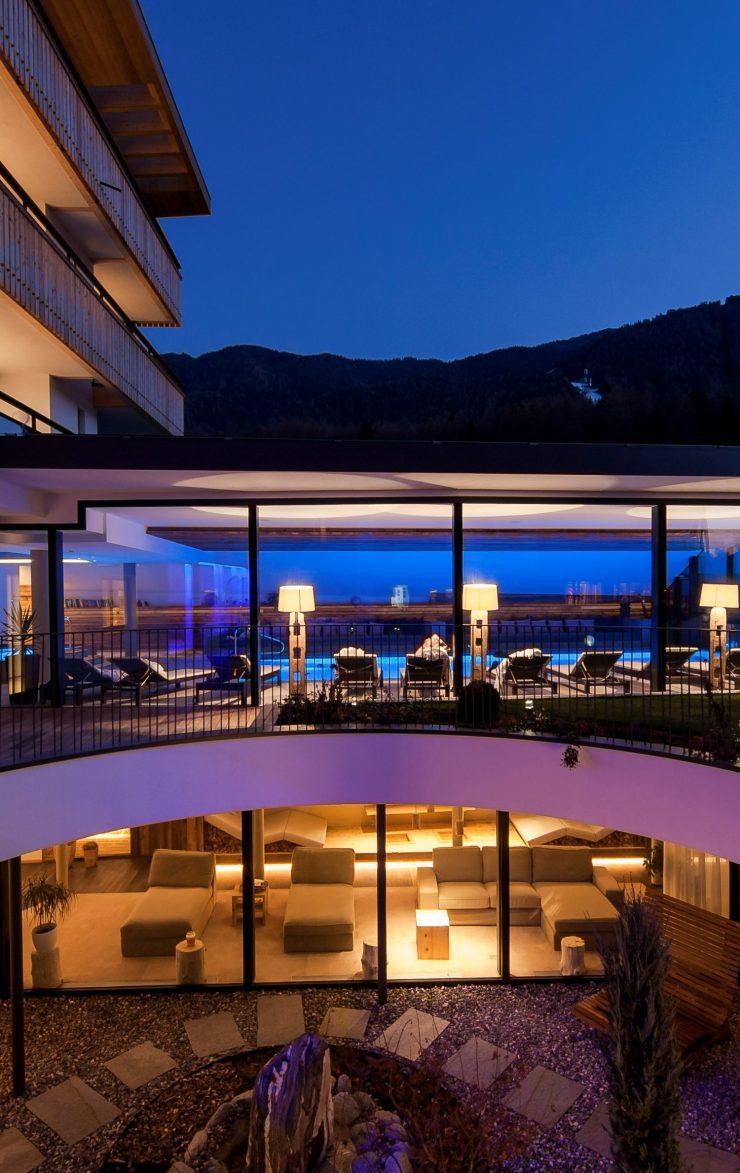 Hotel Petrus 2nd Level Spa. Hotel Petrus, Riscone, Kronplatz/Plan de Corones, Sudtirol.