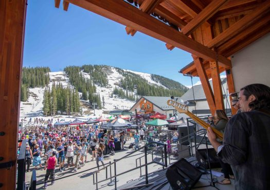End of season at Arapahoe Basin - Mountain Goat Plaza. Photo: Ashley Ojala. Arapahoe Basin. A-Basin quits the Epic Pass cash cow due to their lack of parking.