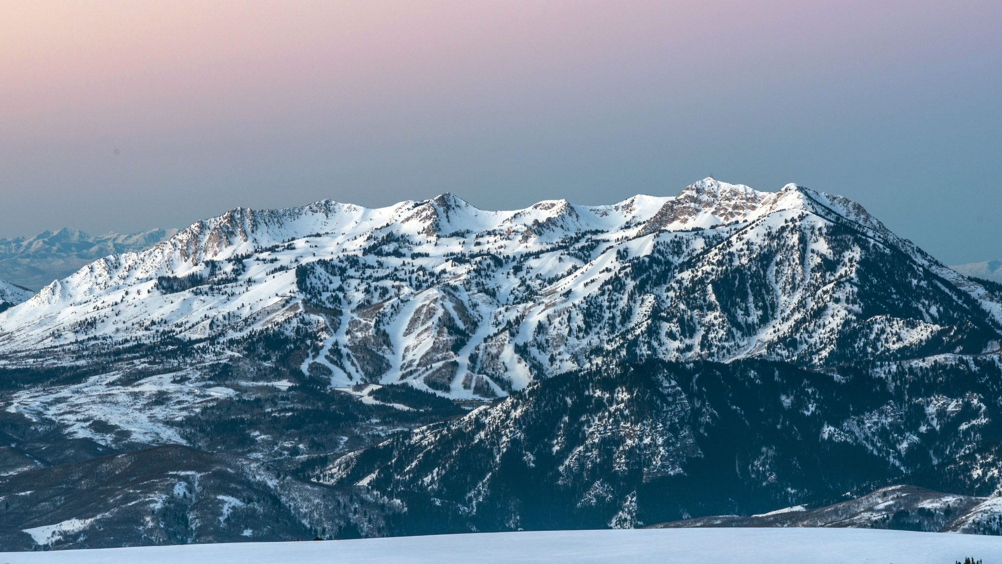 Snowbasin's full mountain. Photo: Snowbasin Mountain Resort. Sun Valley and Snowbasin Join the Epic Pass.