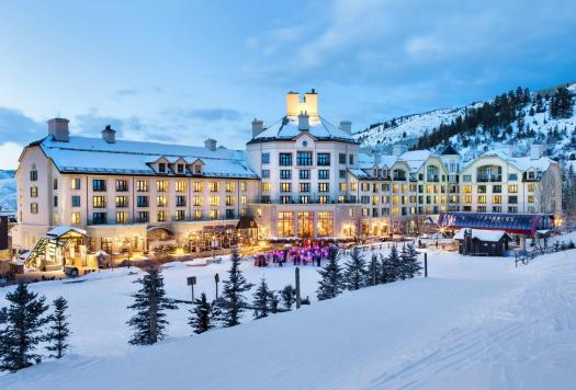 The exterior of the Beaver Creek Park Hyatt. Where to stay in Beaver Creek. The Most Expensive Ski Resorts in the USA.