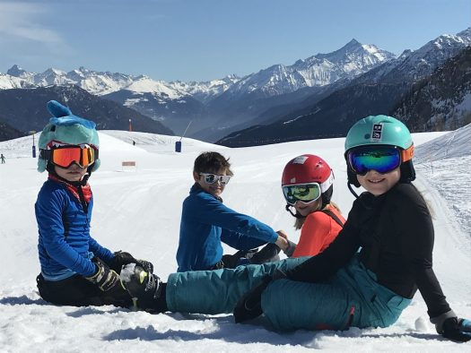 The kids at Maison Vielle- enjoying the day in the sun. Photo: The-Ski-Guru. The Half Term Family Ski Holiday that did not result as planned.