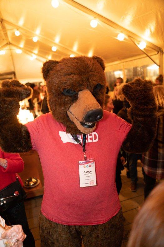 Be 'beary' aware - at the MTS Trade Exchange party - Photo: Mountain Travel Symposium. Mountain Travel Symposium 2019 in Whistler – a recap.