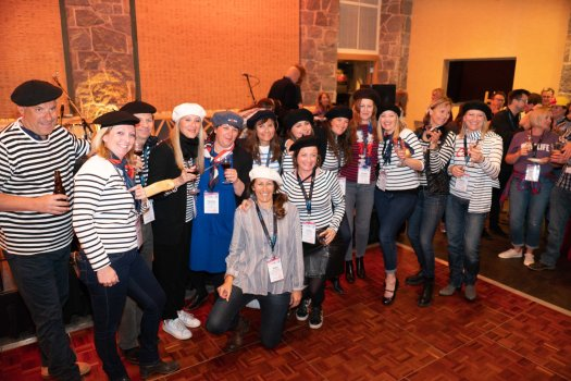 The French delegates at the Trade Exchange Reception. Photo: Mountain Travel Symposium. Mountain Travel Symposium 2019 in Whistler – a recap.