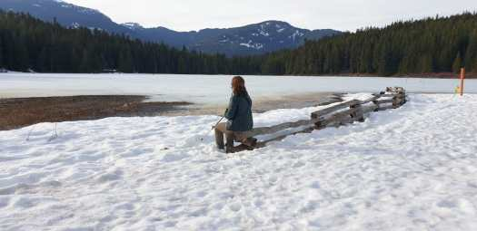 Time to contemplate life - by the Lost Lake beach. Photo: Ester Servat. Mountain Travel Symposium 2019 in Whistler – a recap.