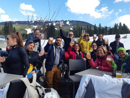 Trentino attendees having fun at the top of Whistler Mountain. Photo: Mirta Valentini - Trentino Marketing. Mountain Travel Symposium 2019 in Whistler – a recap.