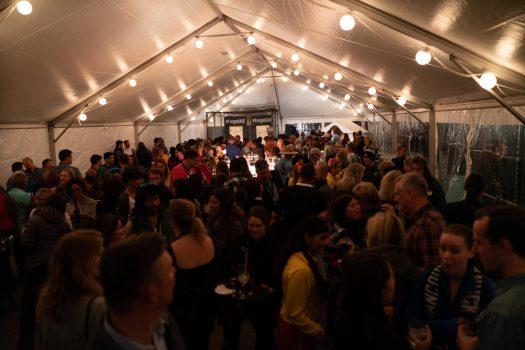 The MTS party was heaving. Photo: Mountain Travel Symposium. Mountain Travel Symposium 2019 in Whistler – a recap.