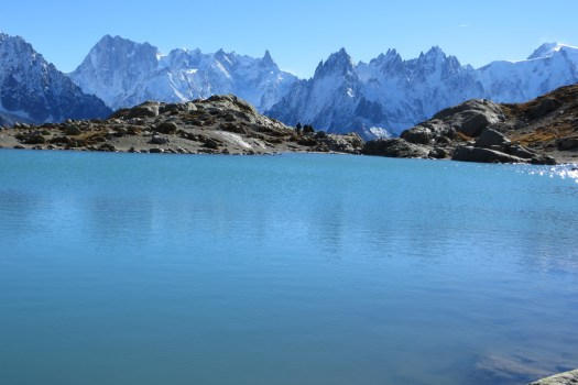 The Aiguille Rouges seen from Lac Blanc. An expert skier killed by an avalanche in the Aiguilles rouges and a snowboarder died on the Alpes Maritimes.