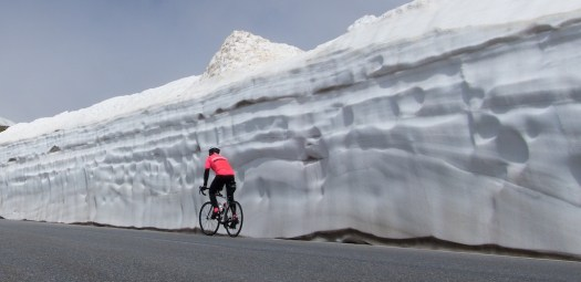 Timmelsjoch- Passo del Rombo, Sudtirol. South Tyrolean passes with 12 meters of snow.