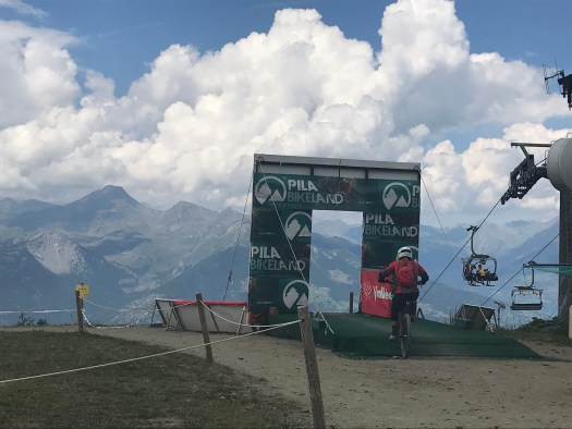 The top of the bike stadium on Piste 2. Our family hike in Pila during the past summer holiday