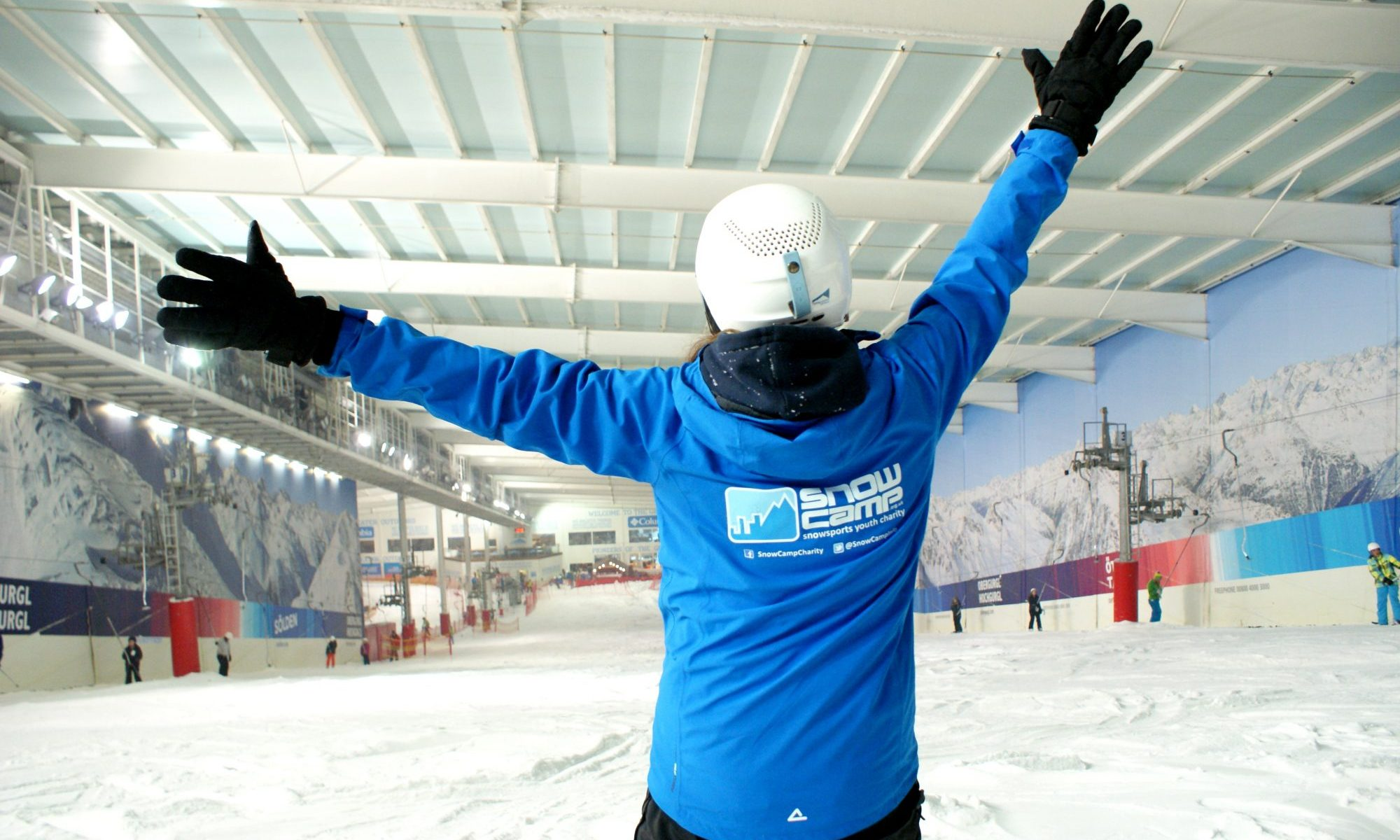 Skiworld raise £15,000 for charity partner, Snow-Camp. Photo: Snow-Camp-Skiworld.