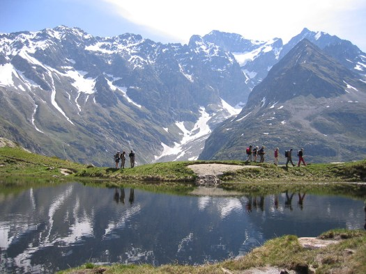 Lac du Lauzon. Walk in the Southern French Alps. Photo: Undiscovered Mountains. The Southern French Alps are the Best Part of the French Alps for Summer Activities.