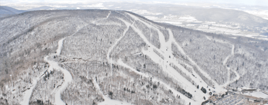 Catamount Ski Area in Massachusetts, one of the partner ski areas of the Indy Pass. The Indy Pass will get you skiing for just USD 199 at North America's authentic independent resorts.