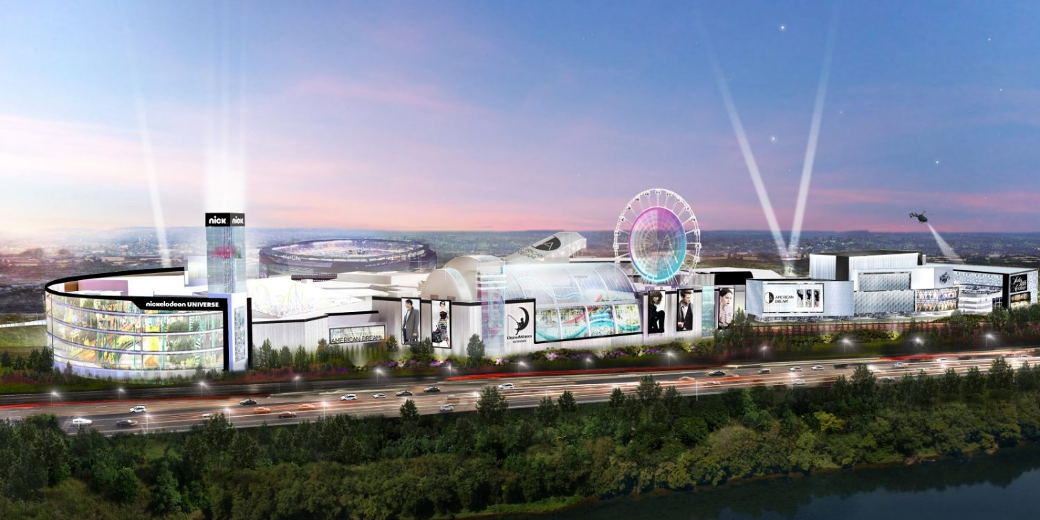 American Dream Exrterior. Rendering Courtesy American Dream Mall. Indoor ski-slope finally opening within American Dream Mall in October