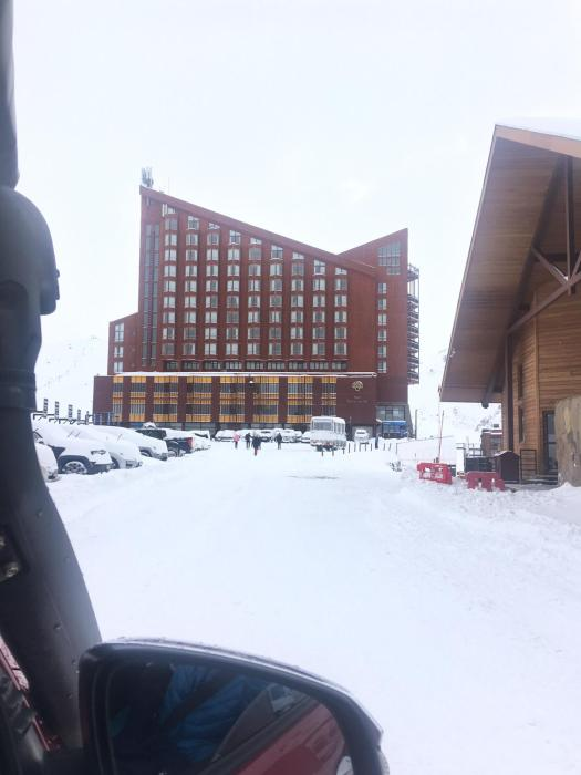 Hotel Puerta del Sol. Photo: Chino Martinez. A Day Trip to Valle Nevado from Santiago City.
