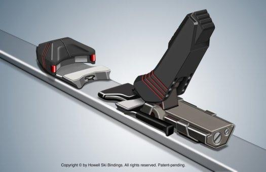 Howell Ski Bindings 800 Pro. The new Future of Ski Bindings is here: Howell 880 Pro ACL friendly ski binding.