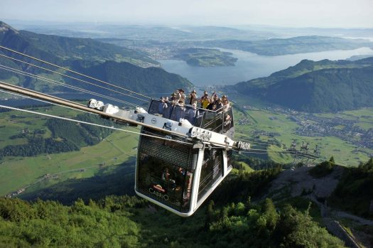 The Stanserhorn Cabrio cablecar. A double decker. Different types of lifts on resorts (I can think of) and how to ride them.