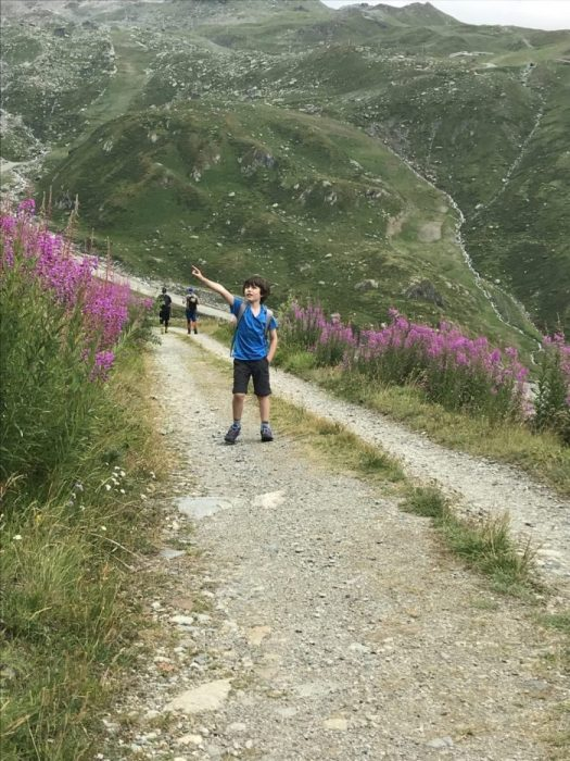 My youngest not understanding why I could not keep up with them and go straight up! They are still young and climb like goats! My body is not that fit! Photo: The-Ski-Guru. Cervinia. Our summer in the mountains – one week in Courmayeur.
