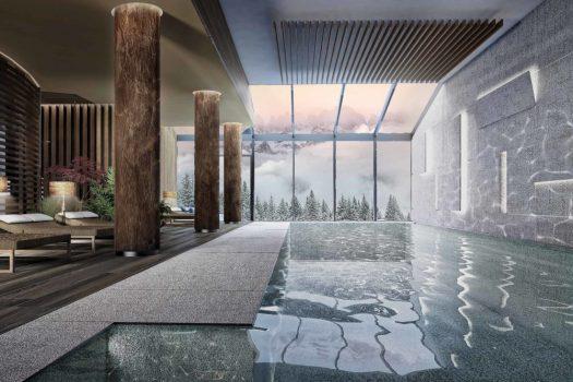Interior Pool at the Lefay Resort & Spa Dolomiti.