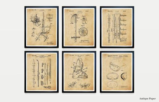 US Ski patent ink drawings. Etsy. What to buy to the skier or boarder at heart for Christmas.