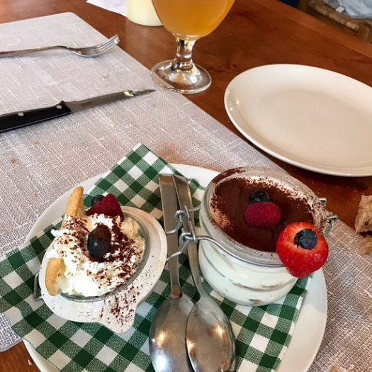 Lovely desserts at Capitan Des Alpes. A Foodie Guide to on-Mountain Dining in Courmayeur.