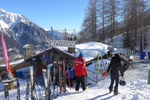 Chiecco restaurant. A Foodie Guide to on-Mountain Dining in Courmayeur.
