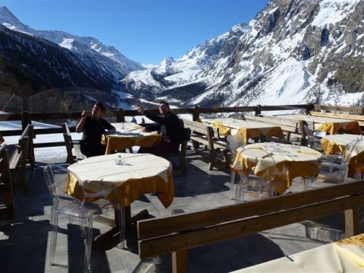 Ristorante La Grolla. Panoramic Terrace. A Foodie Guide to on-Mountain Dining in Courmayeur.