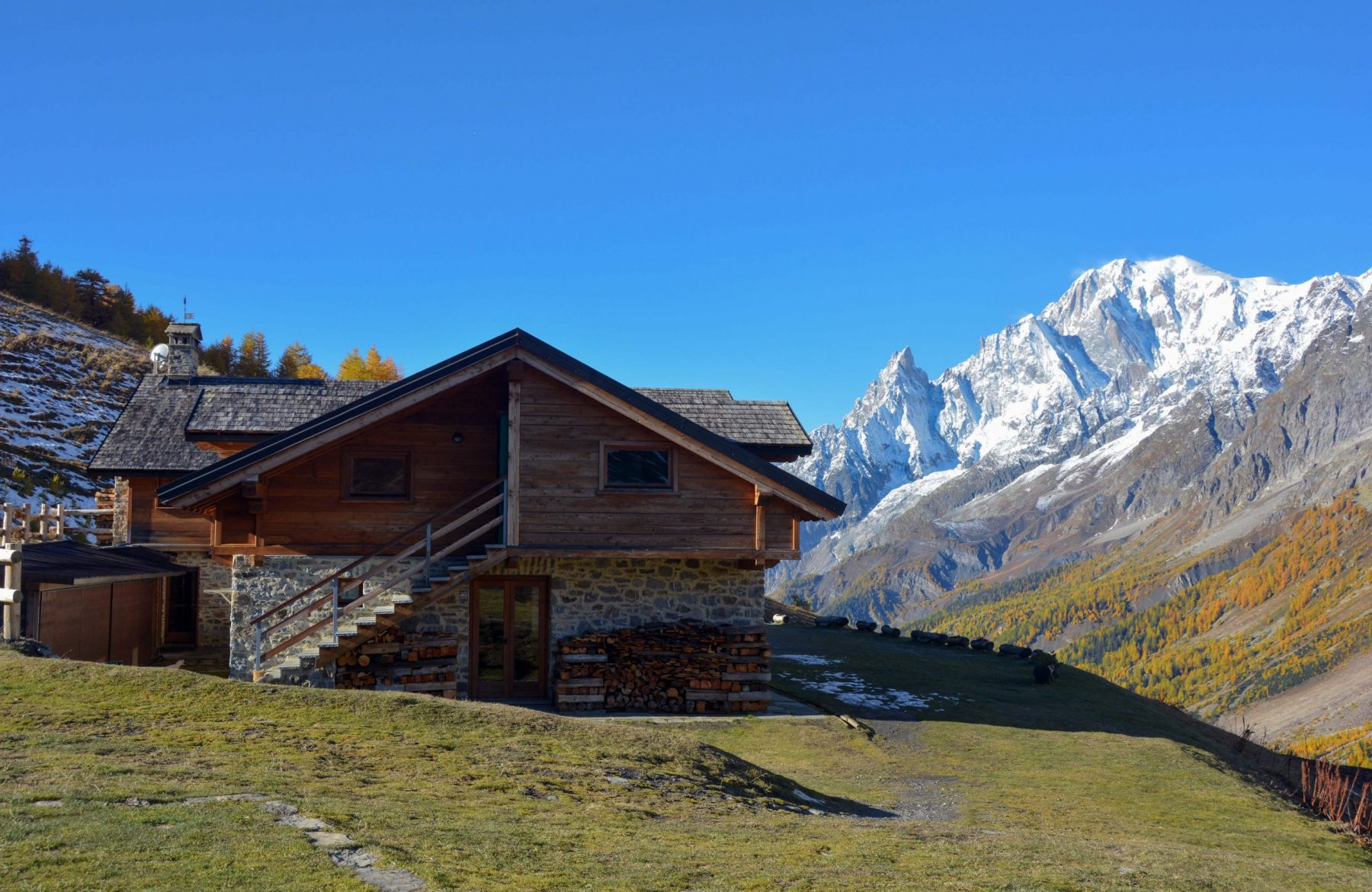 Club Alpino Italiano- Photo by giorgio Rodano - Rifugio Bonatti with views to the Monte Bianco. The plans for reopening the mountain huts (rifugios) during summer in the Italian Alps in times of COVID19.