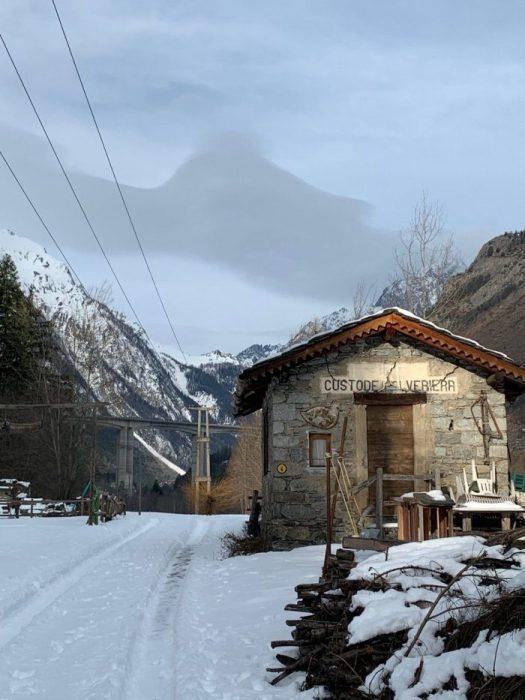 Evening walk by the Dora Baltea. Our half term ski-safari holiday based in the Valdigne of Aosta Valley- Courmayeur, Pila and La Thuile.