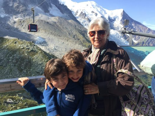 My mum and the boys at the mid-station of Aiguille du Midi. Aiguille du Midi vs Punta Helbronner – which one you should do?