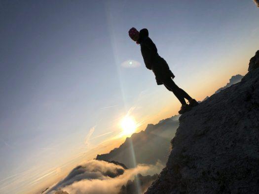 Via Ferrataa Cir at Sunrise. Photo IDM Sudtirol. A Must-Read Guide to Summer in South Tyrol.