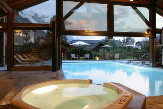 The spa at the Hameau Albert 1er. Book your stay at the Hameau Albert 1er here. Aiguille du Midi vs Punta Helbronner – which one you should do?