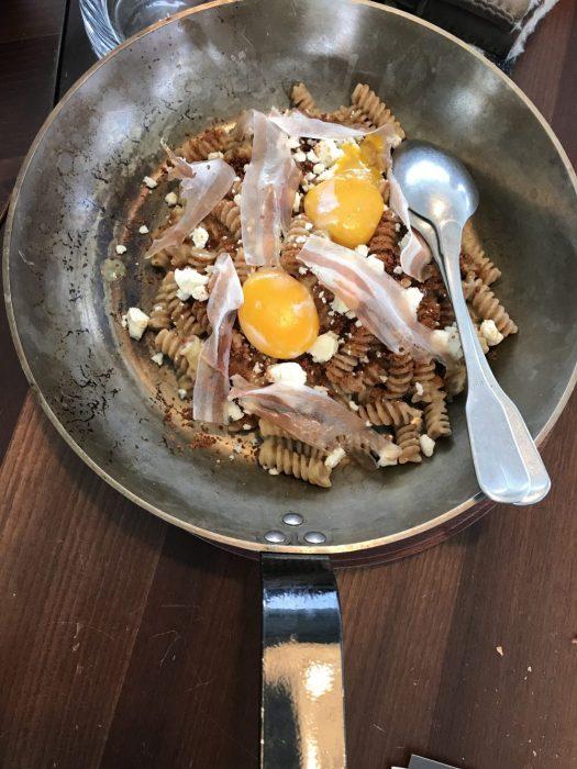 Pasta alla Carbonara with a twist at AlpiNN restaurant. Photo: The-Ski-Guru. A Must-Read Guide to Summer in South Tyrol.