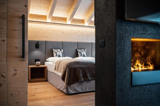 One upscale room at the Hotel Antines. Book your stay at the Hotel Antines here. Planning your summer in the mountains of Alta Badia.