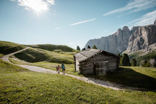 Hiking in Alta Badia. Photo by Alex Moling. Alta Badia Tourism Board. Planning your summer in the mountains of Alta Badia.