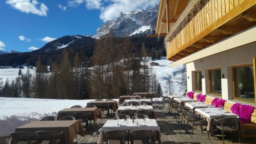 An inviting terrace at the Dolomiti Lodge Alverà. Book your stay at the Dolomiti Lodge Alverà here. Cortina d'Ampezzo is ready for a new summer season.