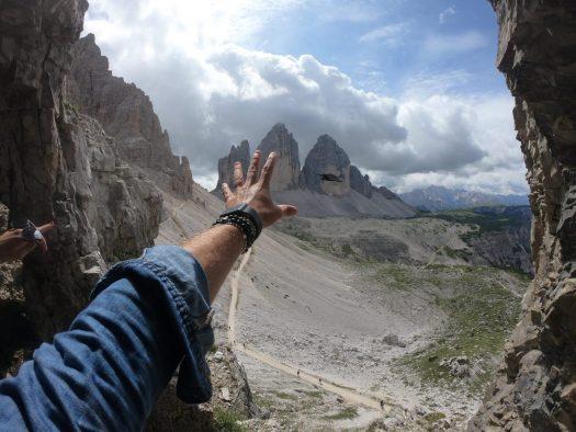 Tre Cime di Lavaredo. Credits: Pietro Albarelli. Cortina Dolomiti Ultra Trekking.