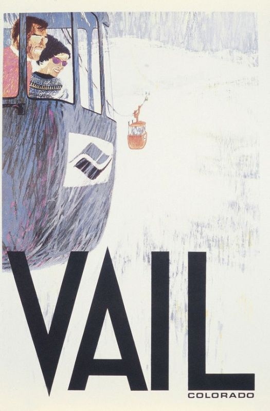 An old Poster of Vail. Pinterest- Vail Mountain. The Must-Read Guide to Vail.