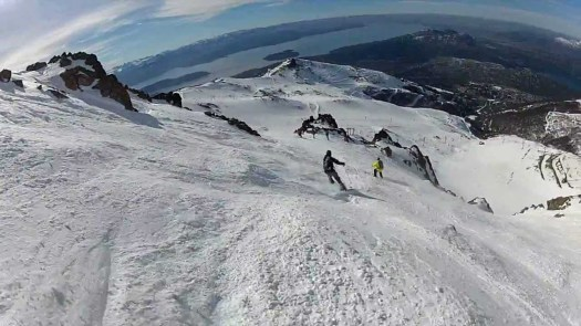 skiing in Cerro Catedral. Archive photo. Cerro Catedral has opened: skiing for locals with masks and record snow levels.