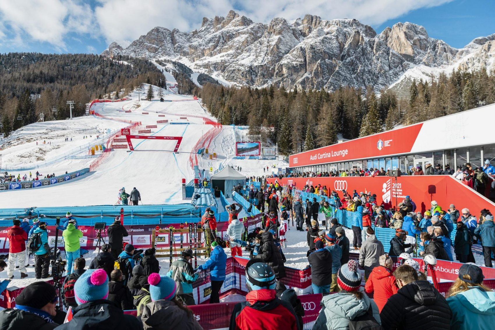 Tofana, ISTA. Cortina d'Ampezzo. Photo: www.bandion.com- 3. Cortina 2021 FIS Alpine World Ski Championships to go ahead.