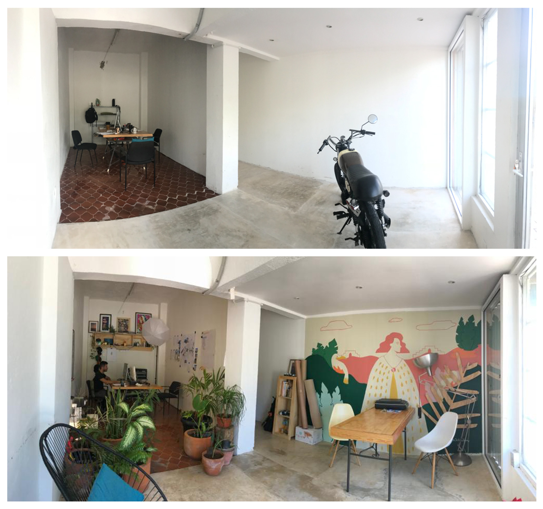 Antes y Después Oficina The Stills Lifestyle Agency Cancun