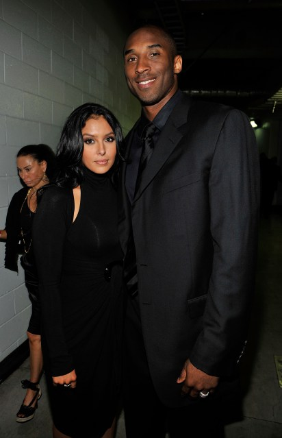 Vanessa and her late husband Kobe who was killed in a horrific helicopter crash