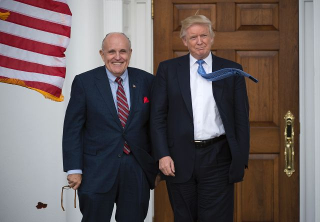 Trump's personal lawyer Giuliani provided a copy of the files to the New York Post