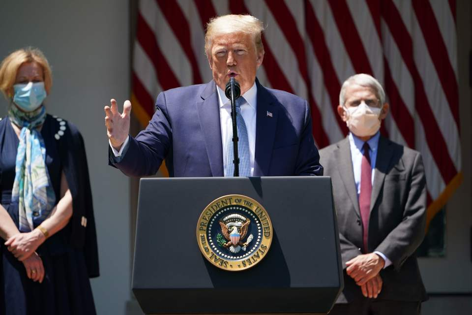 Trump has likened higher COVID-19 case numbers in the US due to increased testing