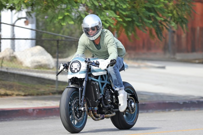 Brad has been seen flying on his two-wheels