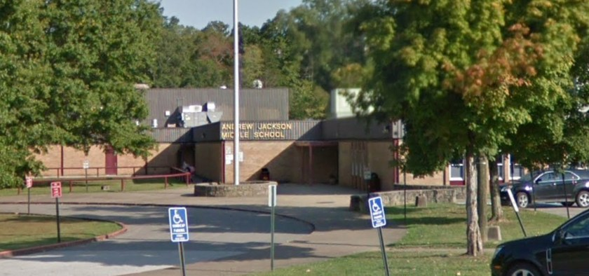 Andrew Jackson Middle School in Cross Lanes, West Virginia.