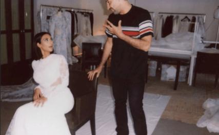 Kim Kardashian shared photos of her wedding dress