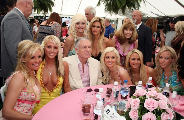 The Playboy bunnies were known to live at the mansion
