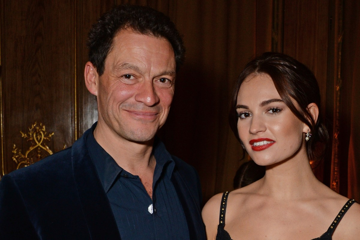 Are Lily James and Dominic West dating?