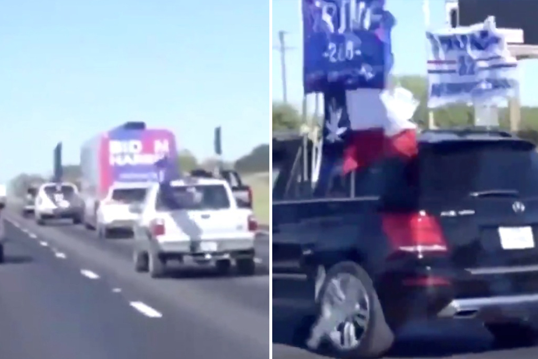 """Demokraten stornieren Texas-Event, nachdem eine Gruppe von Trump-Anhängern  """"auf einem Video mit einem Biden-Bus aus Austin erwischt wurde"""" – Nach Welt"""