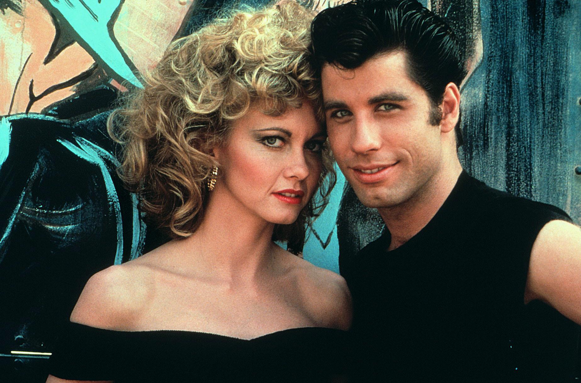 Olivia กับ John Travolta ใน Grease